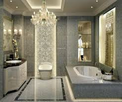 white bathroom floor tile ideas bathroom luxury sparkling bathroom chandelier and elegant white