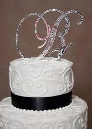 b cake topper initial b wedding bling cake topper wedding cake cake ideas by