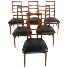 Ladder Back Dining Chairs Mid Century Set Of Niels Koefoed Ladder Back Dining Chairs For