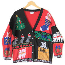 20 ugly christmas sweaters featuring cats with which to dazzle at