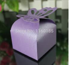 butterfly favor boxes free shipping 50 pcs purple butterfly candy boxes baby shower