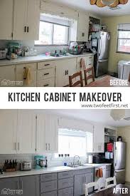 How To Make Shaker Style Cabinets How To Update Kitchen Cabinets Without Replacing Them Twofeetfirst