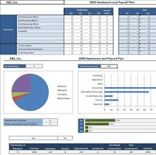 Payroll Spreadsheet Template Excel by Headcount And Payroll Plan