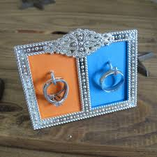 classic crystal ring holder images Diy wedding ring holder use a small frame and some hooks to jpg