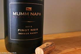 2013 mumm napa pinot noir devaux ranch a glass after work