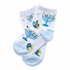 dreidel socks chanukah gifts blue dreidel kids crew socks
