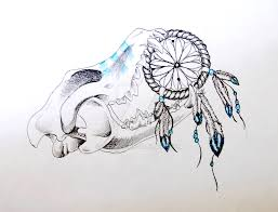 dreamcatcher wolf skull concept by dasava on deviantart