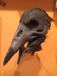 plague doctor mask paper mache bird mask bird costume raven crow