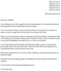 trainee recruitment consultant cover letter u2013 cover letters and cv