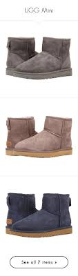 s grey ankle ugg boots ugg mini by dellobrien liked on polyvore featuring shoes