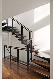 interior fabulous design with modern stair railing ideas and wood