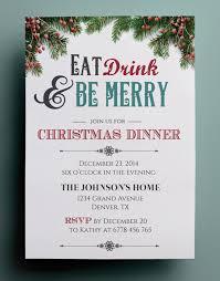 christmas dinner invitation template free u2013 fun for christmas