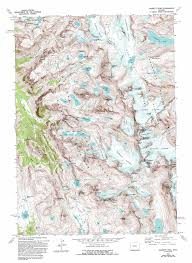 Map Of Wyoming And Colorado by Gannett Peak Topographic Map Wy Usgs Topo Quad 43109b6