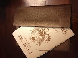 vanessa u0027s diy passport destination wedding invitations pic heavy