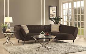norwood sectional sofa 500463 in dark coffee fabric by coaster