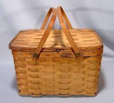 vintage picnic basket vintage woven wood picnic basket for sale antiques classifieds