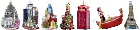 ornaments from around the world city souvenirs