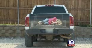 american flag truck texas business creates truck decal of woman bound and tied to