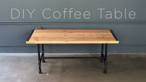 Diy Coffee Tables by Diy Pipe Coffee Table Youtube