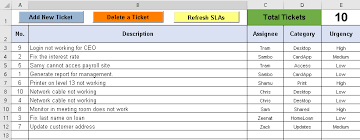 help desk project management help desk ticket tracker excel spreadsheet free download free