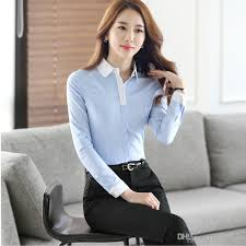business blouses 2018 autumn formal business shirts office style