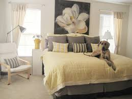 Master Bedroom Decorating Ideas Bedroom Romantic Yellow And Grey Bedroom With White Floral With