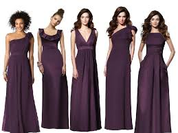dessy bridesmaids aubergine bridesmaid dresses pantone wedding styleboard the