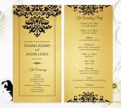 where to get wedding programs printed wedding programs printed on gold metallic cardstock luxury
