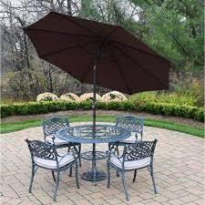Patio Table With Umbrella Cast Aluminum Patio Dining Furniture Patio Furniture The
