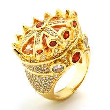 mens crown rings images King ice 14k gold cz crown ring kingice jpeg