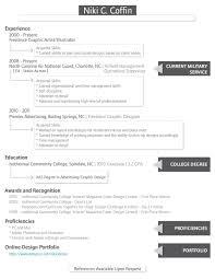 Military Skills To Put On A Resume Graphic Design Resumé Creativebits