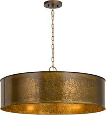 Drum Light Pendant Cal Fx 3637 5 Rochefort Distress Gold Drum Pendant Light Fixture