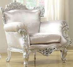 Silver Accent Chair Attractive Silver Accent Chair Neo Classic Glitzy Silver Accent