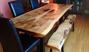 Living Edge Dining Table Live Edge Ontario Reclaimed Wood Dining Table