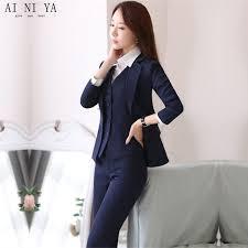 femme de bureau veste pantalon gilet marine bleu femmes d affaires travail