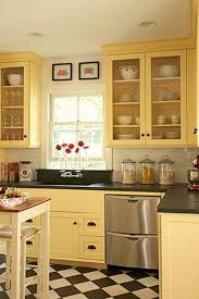 Yellow Kitchen With White Cabinets - awesome yellow kitchen cabinets 48 for home design ideas with