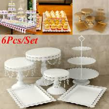 cake stand wedding set of 6 white metal cake holder cupcake stand wedding
