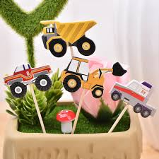 online shop 24pcs multi color cartoon cupcake picks car model cake