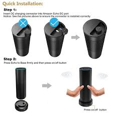 amazon com portable battery base for echo power your echo up to