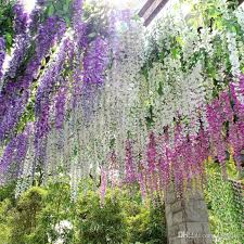 flowers in bulk hot sale bulk silk flowers bush wisteria garland hanging