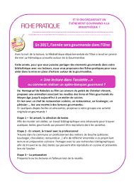 projet d animation cuisine médiathèque départementale de l oise
