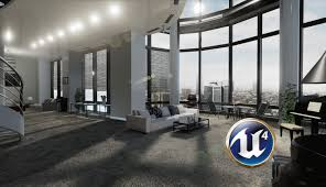 3d Interior Speed 3d Interior Decorating Apartment Scene Unreal Engine 4