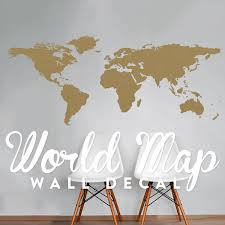 World Map Wall Decal Travel Wall Decor Map Wall Sticker