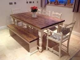 Rustic Farmhouse Dining Table With Bench Dining Table 8 Seater Remodel Hunt