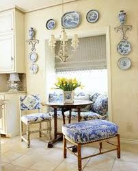 farmhouse style 30 blue and white kitchens to inspire hello lovely