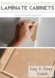 peeling patching and painting laminate cabinets painting