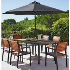 6 Seat Patio Table And Chairs Buy Sorrento 6 Seater Patio Furniture Set With Parasol Brown At
