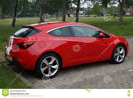 opel red opel astra gtc editorial stock image image 72155164