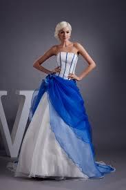 plus size blue and white wedding dress naf dresses