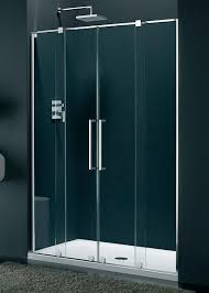 1400 Shower Door Italia Genzano Frameless Sliding Shower Door 1400 Silver